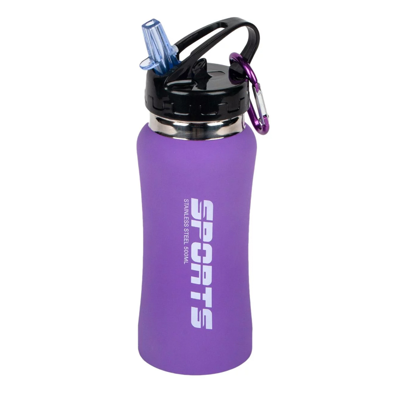 Sticla pentru drumetii Sports, 500 ml, Mov 2021 shopu.ro