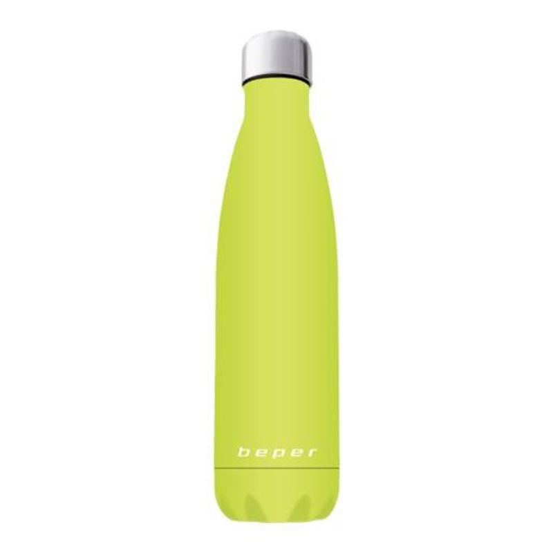 Sticla tip termos Beper, 500 ml, otel inoxidabil, Verde 2021 shopu.ro