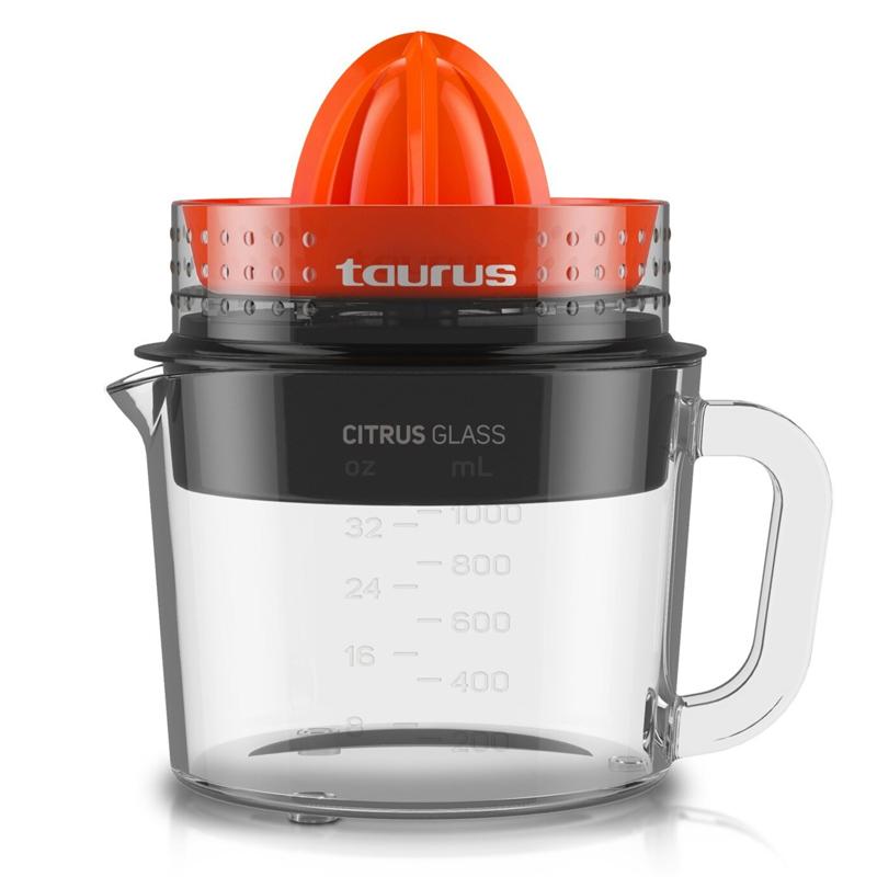 Storcator citrice Citrus Glass Taurus, 30 W, 1 l, functie Reverse, Rosu/Negru 2021 shopu.ro