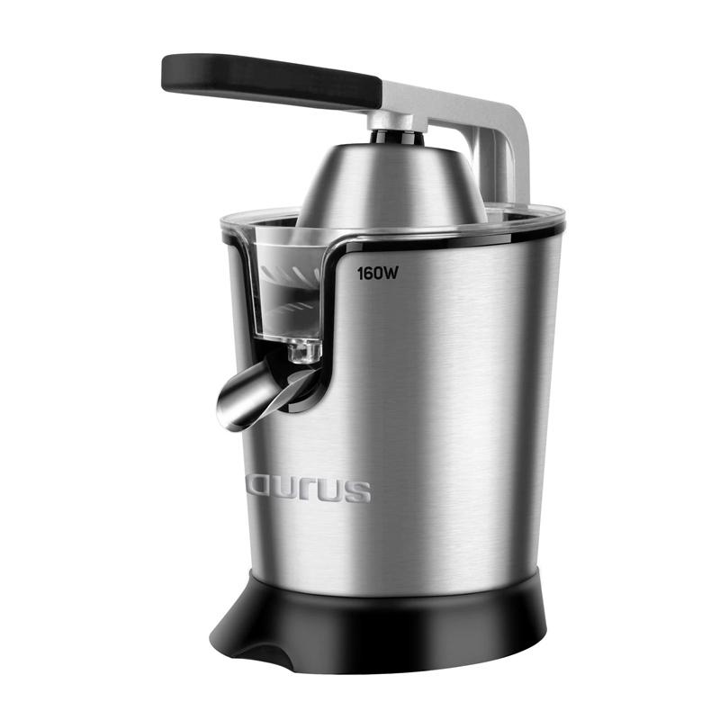 Storcator citrice tip presa Easy Press Taurus, 160 W, 650 ml, 2 filtre, Inox 2021 shopu.ro