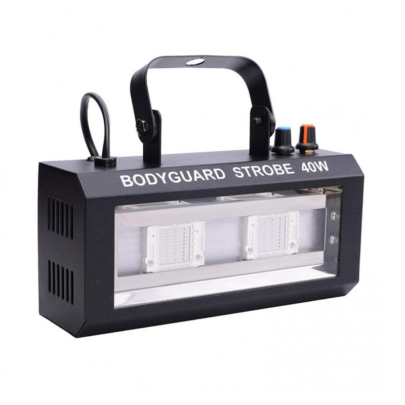 Stroboscop LED Bodyguard, 40 W, 2 x LED, RGB