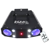 Stroboscop si laser Ibiza Monflower, RGBW, 56 Led-uri