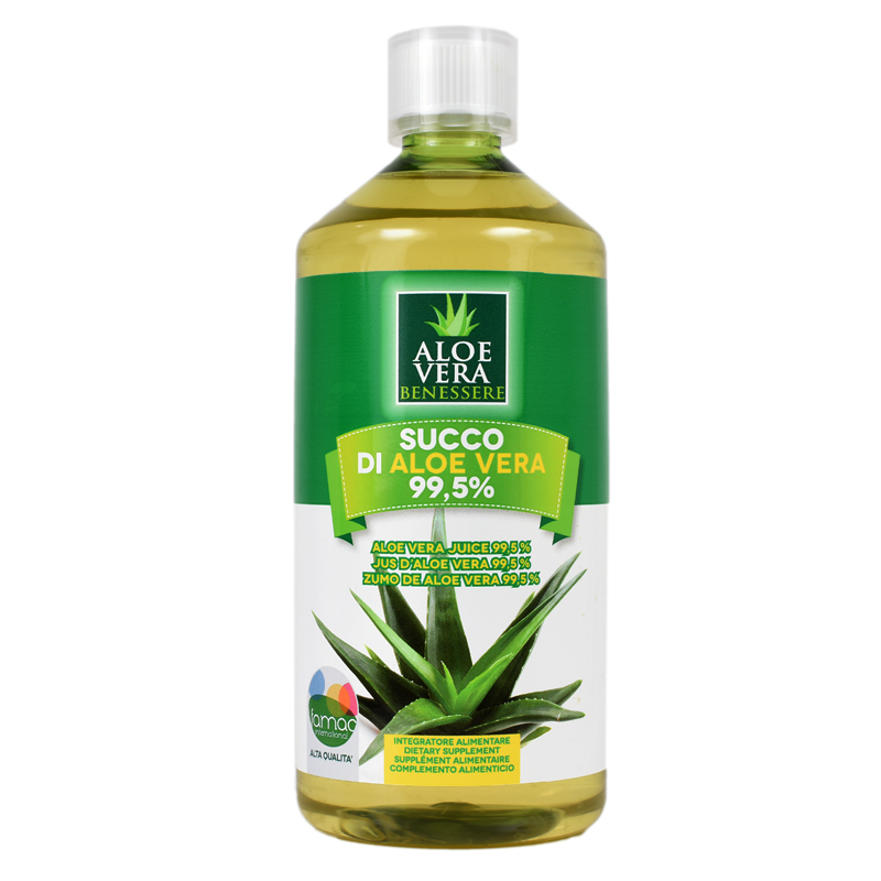 Suc organic de Aloe Vera Benessere, 1000 ml