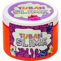 Super Slime neon cu sclipici Tuban, 500 g, 6 ani+, Portocaliu