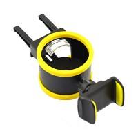 Suport auto pentru telefon si pahar iMount, design compact