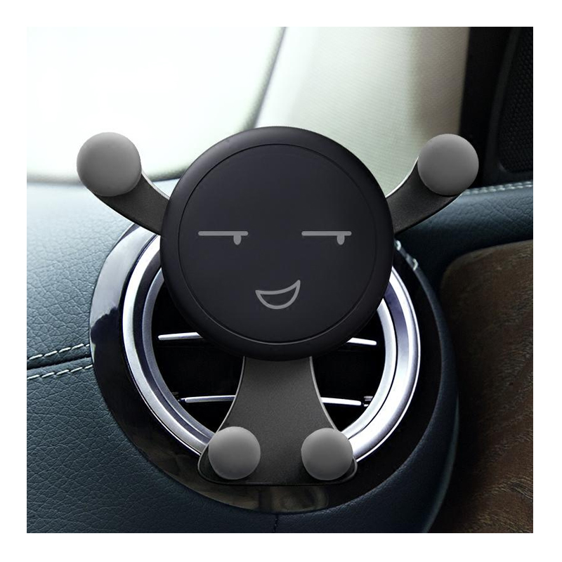 Suport telefon pentru ventilatie Auto Vent Mount, model smiley face