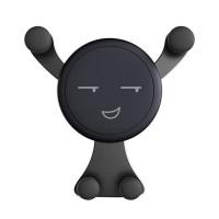 Suport telefon pentru ventilatie Auto Vent Mount, model smiley face