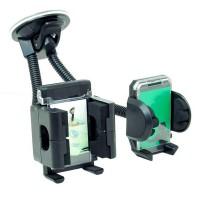Suport auto universal dublu pentru telefon si GPS