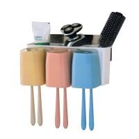 Suport baie periute de dinti/accesorii 2 in 1 Magic Sticker