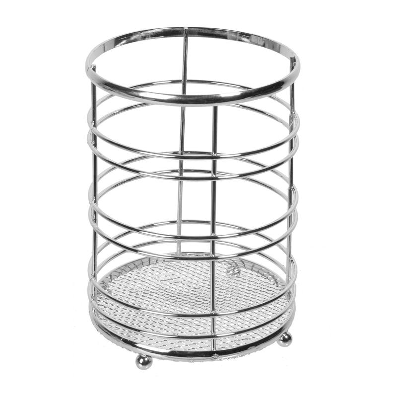 Suport inox pentru ustensile bucatarie, 12 x 16 cm, Argintiu 2021 shopu.ro
