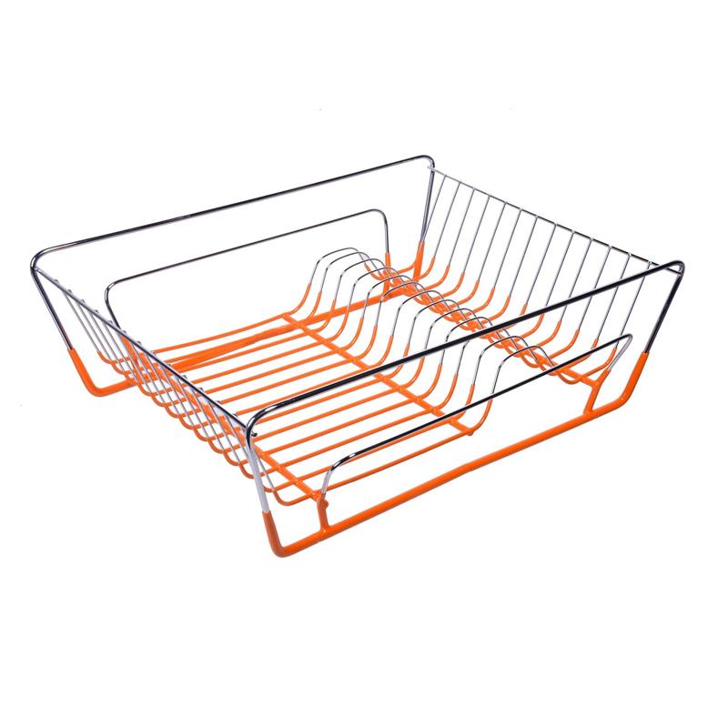 Suport metalic pentru vase, 42 x 31 cm, Portocaliu 2021 shopu.ro