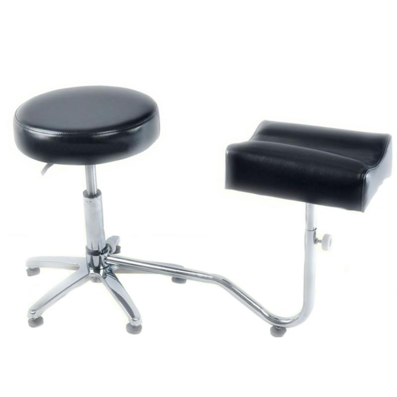 Suport pedichiura cu scaun 3205-BL, reglabil, negru 2021 shopu.ro