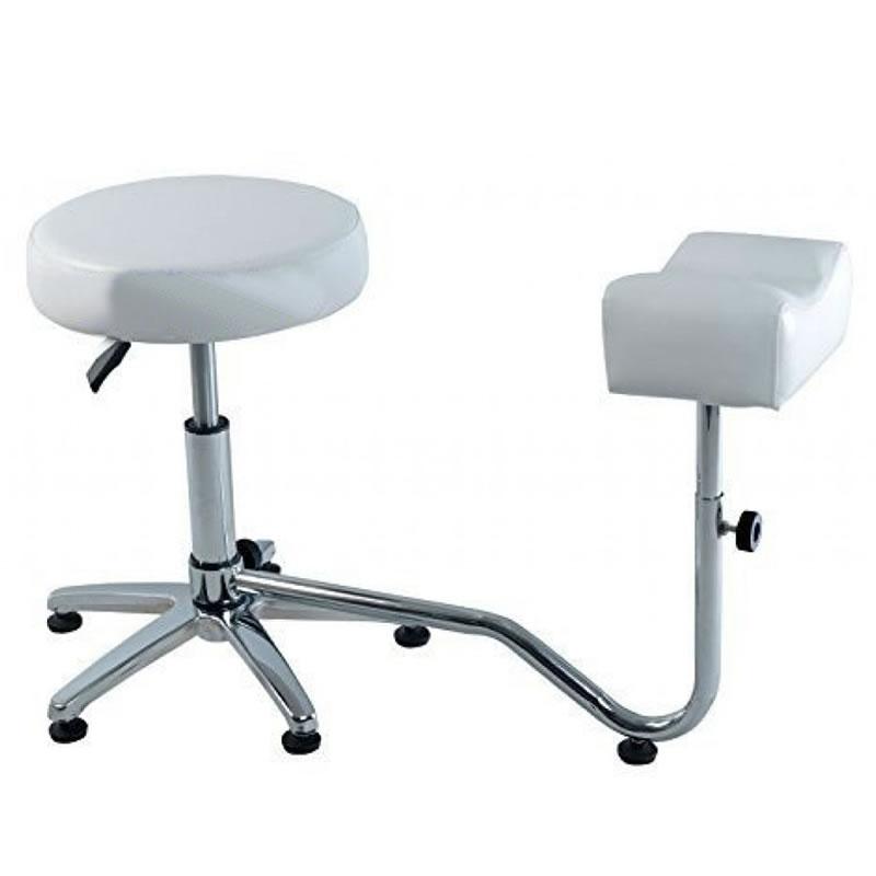 Suport pedichiura cu scaun 3205-WT, reglabil, alb 2021 shopu.ro