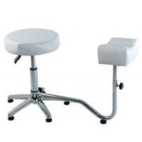 Suport pedichiura cu scaun 3205-WT, reglabil, alb