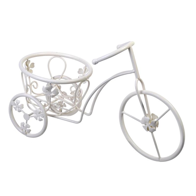 Suport pentru ghivece tip bicicleta, 37 x 16 x 25 cm, model floral 2021 shopu.ro
