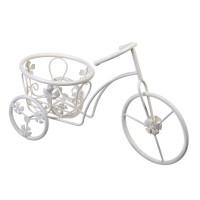 Suport pentru ghivece tip bicicleta, 37 x 16 x 25 cm, model floral