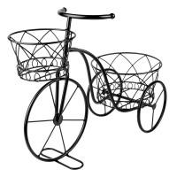 Suport pentru ghivece tip bicicleta, 45 x 18 x 36 cm, Negru