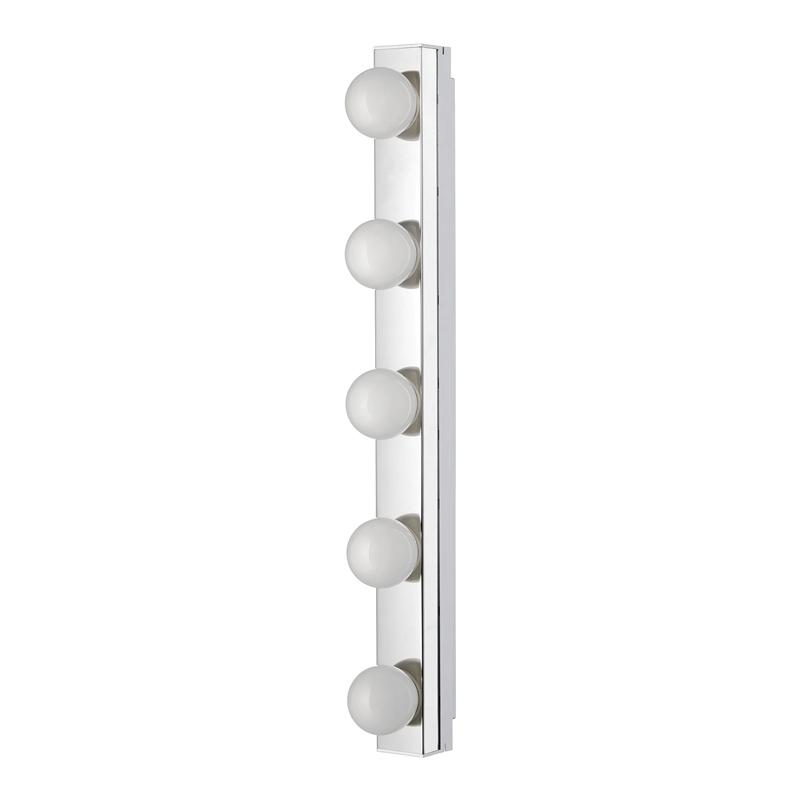 Aplica LED pentru oglinda, 9 W, 500 lm, 5 x LED, lungime 60 cm, Argintiu/Alb 2021 shopu.ro