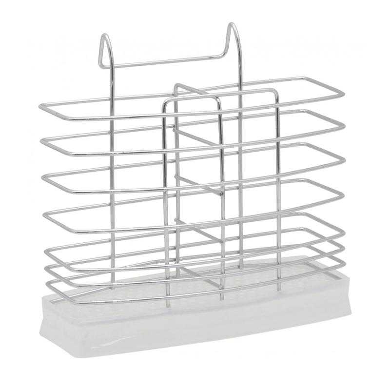 Suport pentru tacamuri Sapir, 19 x 16 cm, Argintiu 2021 shopu.ro