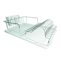 Suport pentru vase Sapir, 49 x 32 x 13 cm, Argintiu/Alb