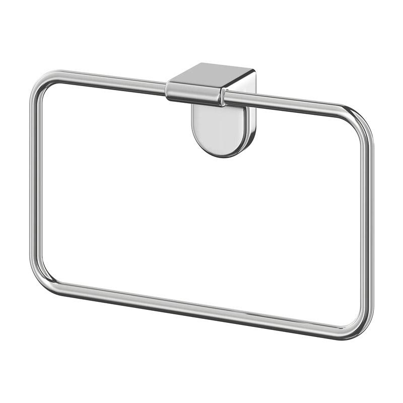 Suport zinc pentru prosoape, 4.8 x 13 cm, Gri shopu.ro