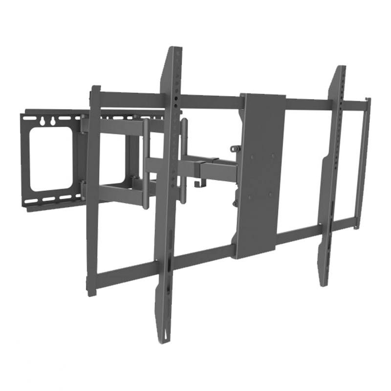 Suport TV LCD pentru perete Delight, 60-100 inch, brat rabatabil, maxim 80 kg, Negru 2021 shopu.ro