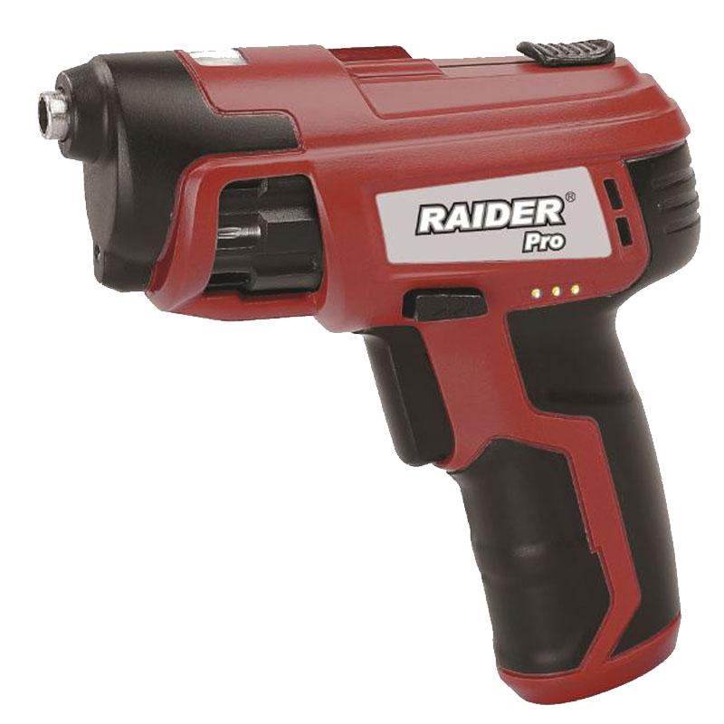 Surubelnita cu acumulator Raider, 1300 mAh, 3.6 V, Li-ion, 180 rpm, rotatie stanga dreapta 2021 shopu.ro