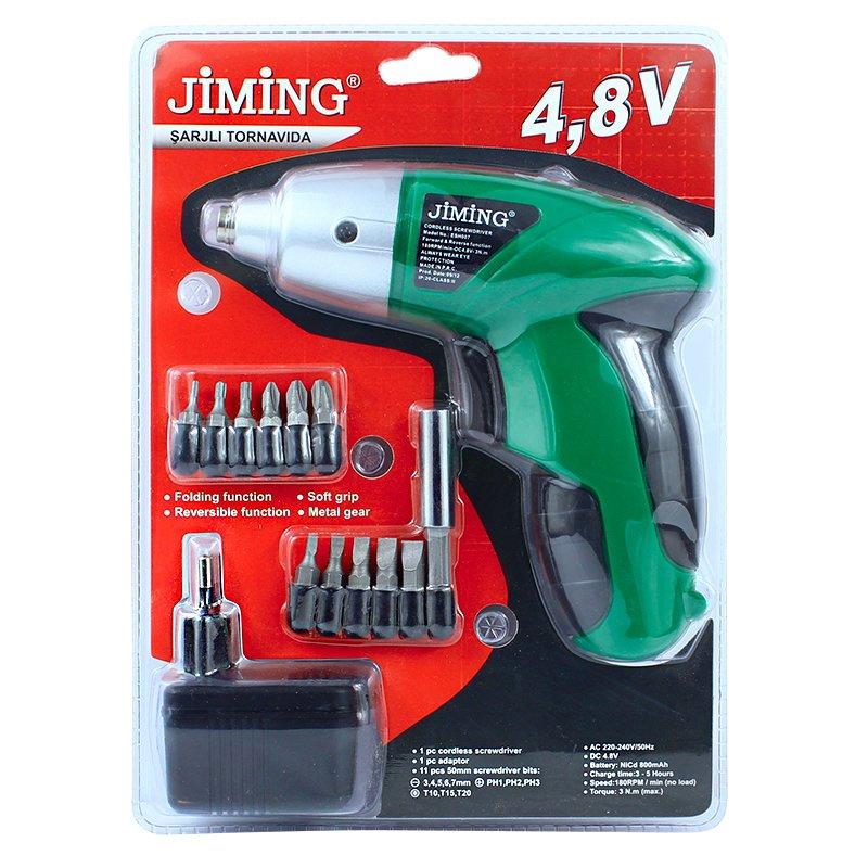 Surubelnita electrica Jiming, 4.8 V, 12 capete interschimbabile 2021 shopu.ro