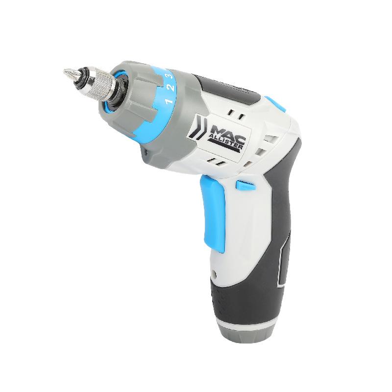 Surubelnita electrica Mac Allister, 3.6 Vm 200 rpm, 5 Nm, accesorii incluse, Gri/Albastru shopu.ro