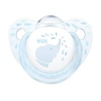 Suzeta M2 Baby Nuk, silicon, 6-18 luni, model elefant, Albastru
