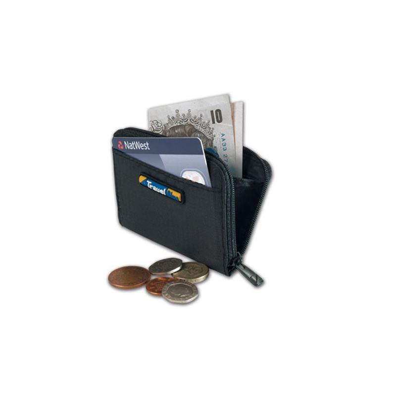 Portofel monede/carduri Travel Blue, 15 x 10 cm, Negru 2021 shopu.ro