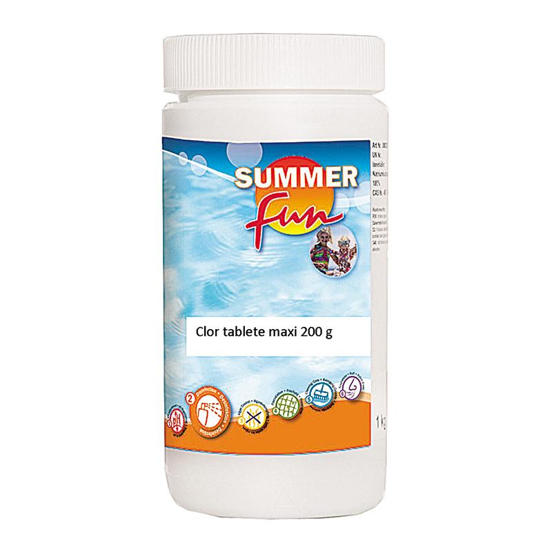 Tablete maxi pentru piscina Summer Fun, 1 kg, clor, PH-neutru 2021 shopu.ro
