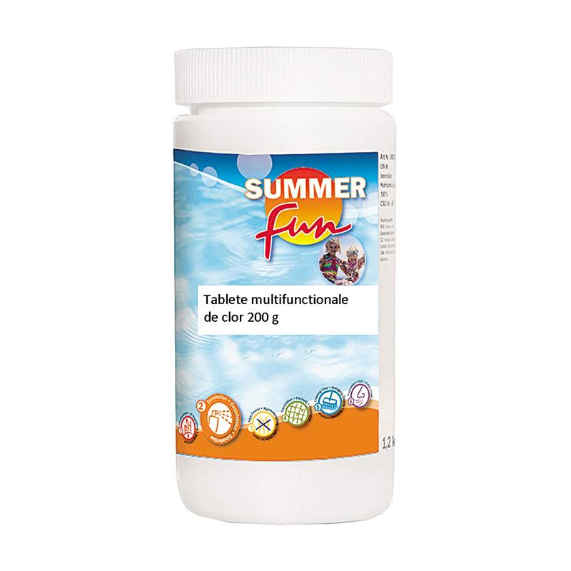 Tablete multifunctionale pentru piscina Summer Fun, 1 kg, clor 85% 2021 shopu.ro