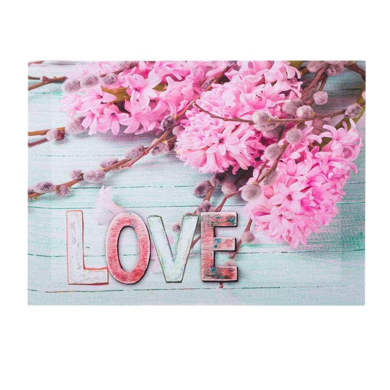 Tablou decorativ, 35 x 25 x 1.5 cm, mesaj Love 2021 shopu.ro