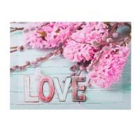 Tablou decorativ, 35 x 25 x 1.5 cm, mesaj Love
