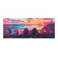 Tablou decorativ cu lumina, 7 x LED, 100 x 40 cm, Multicolor
