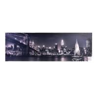 Tablou decorativ cu lumina, 90 x 30 cm, model New York