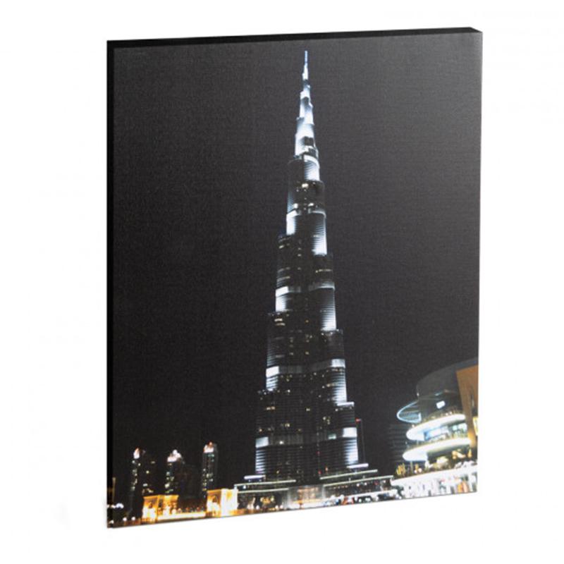 Tablou cu LED Family Pound, 38 x 48 cm, 2 x AA, model Burj Kalifa, lumina alb rece 2021 shopu.ro