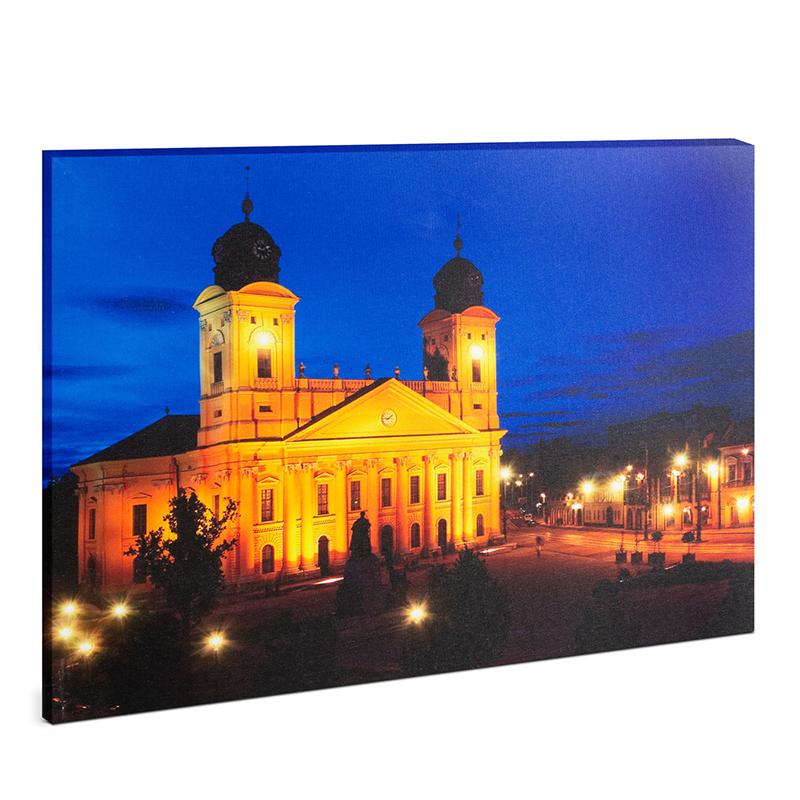 Tablou cu LED Family Pound, 38 x 48 cm, 2 x AA, model Debretin, lumina alb cald 2021 shopu.ro
