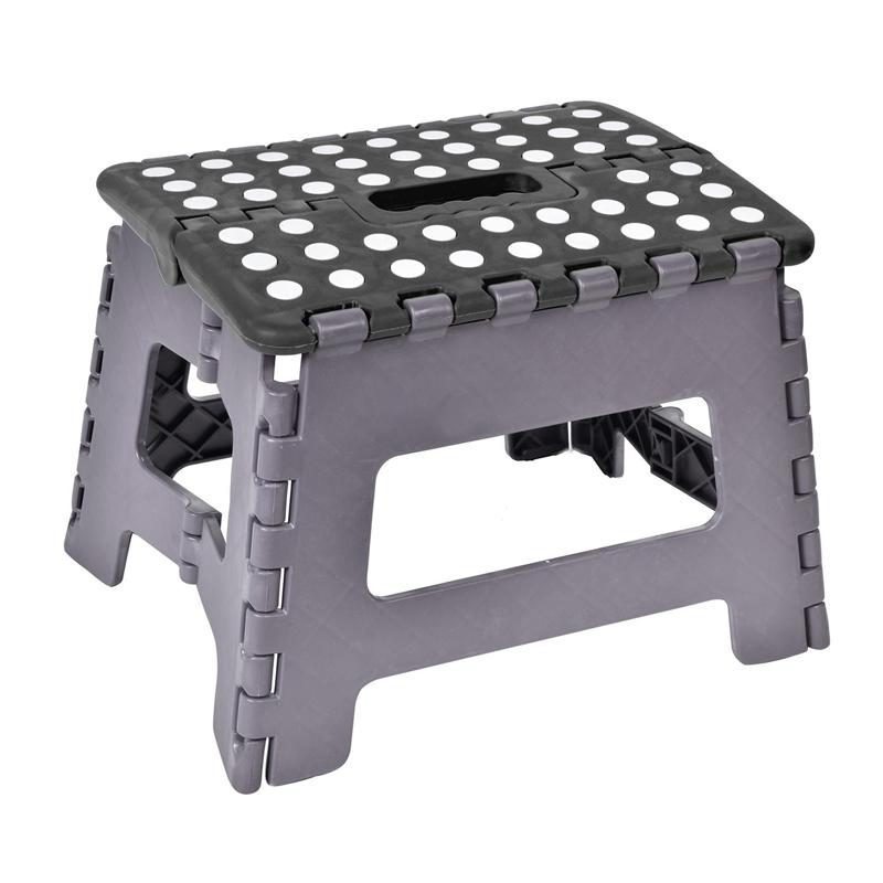 Scaun tip taburet pliabil, 29 x 22 x 32 cm, model buline, Negru 2021 shopu.ro