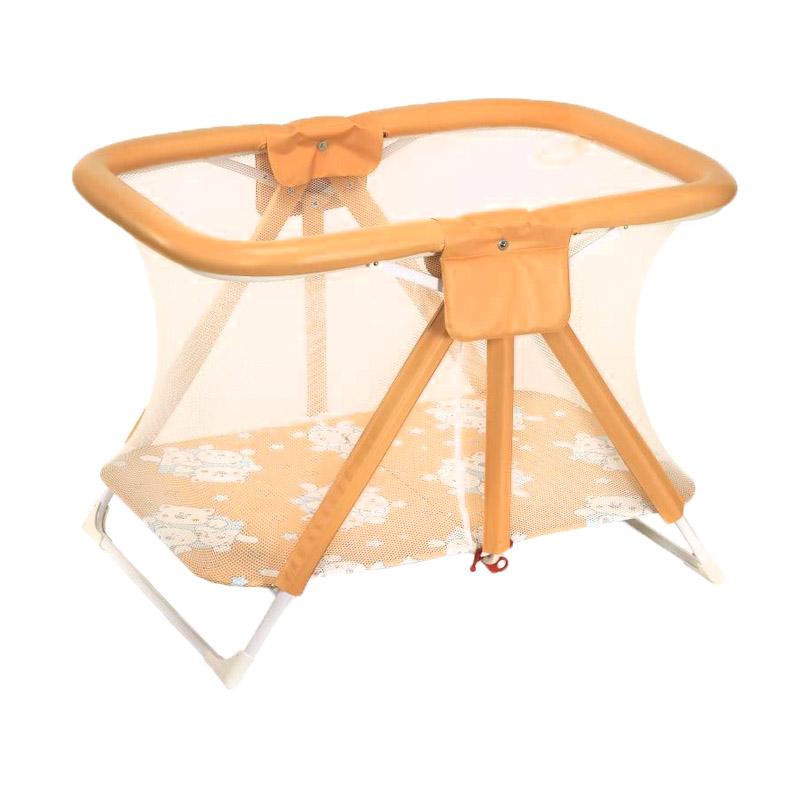 Tarc de joaca Pratico Plebani, 79 x 112 x 80 cm, 6 luni+, portocaliu imagine