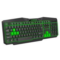 Tastatura Gaming USB Tirions Esperanza, LED Verde