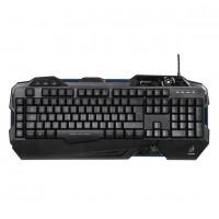 Tastatura gaming cu fir uRage Exodus Macro, taste iluminate, Negru