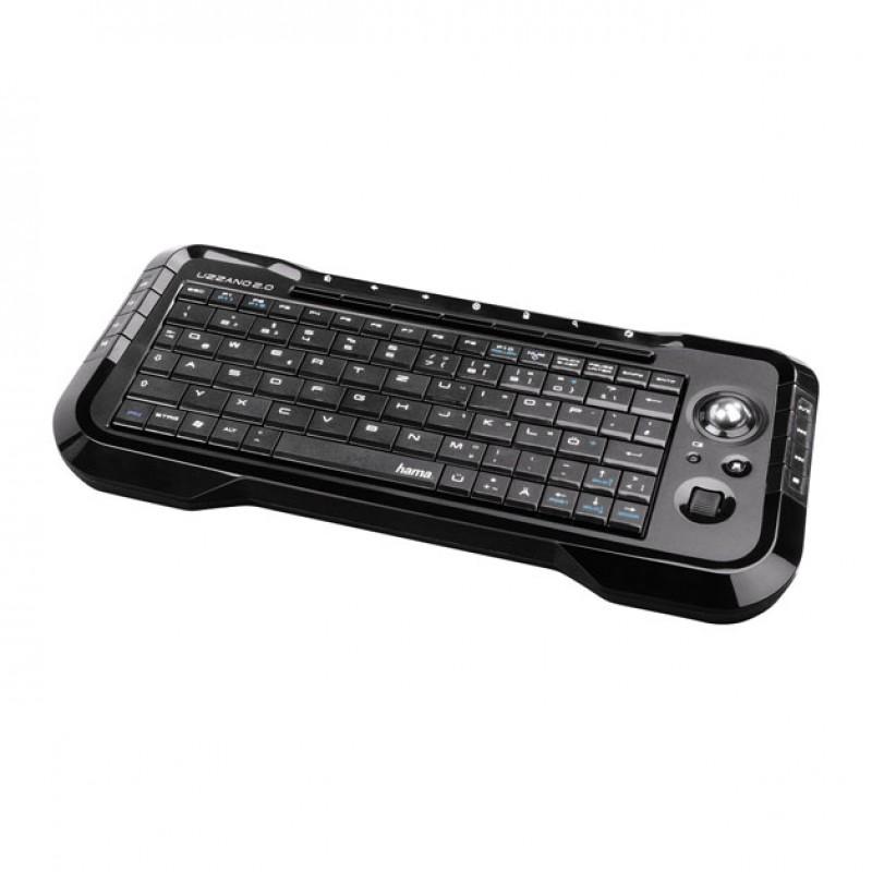 Tastatura wireless pentru smart TV Hama Uzzano, 15 taste media, Negru 2021 shopu.ro