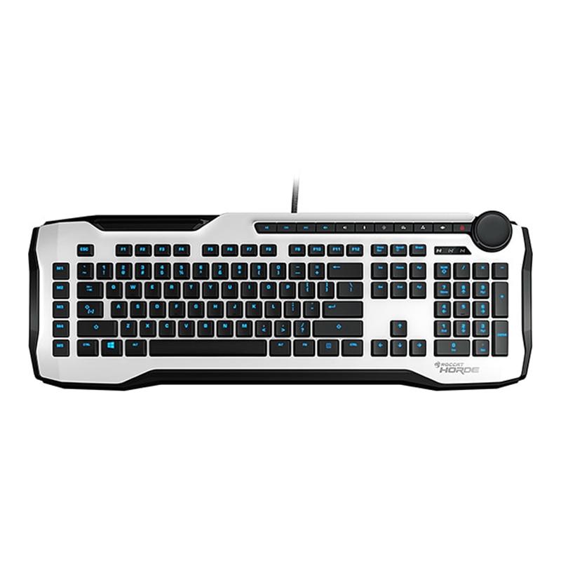 Tastatura Gaming Horde Aimo Roccat, USB, cablu 1.8 m, iluminare RGB, layout US, Alb 2021 shopu.ro