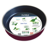 Tava aluminiu pentru cuptor Floria, 34 cm, model rotund