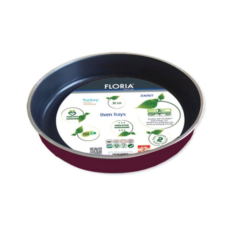 Tava aluminiu teflonata rotunda Floria, diametru 38 cm 2021 shopu.ro