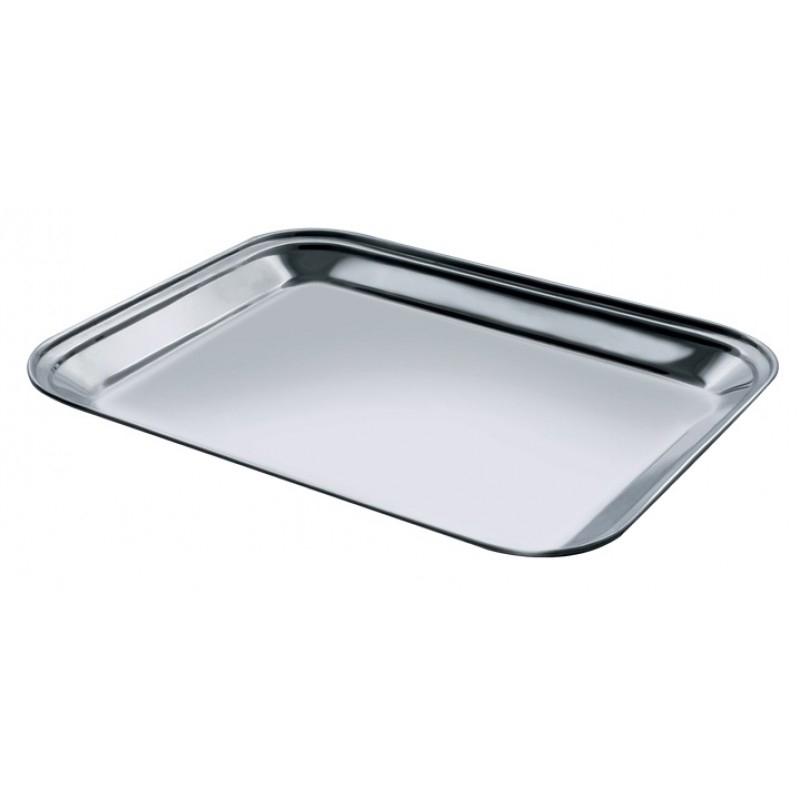 Tava servire Salvinelli, 30 x 23 cm, dreptunghiulara, inox, Argintiu 2021 shopu.ro