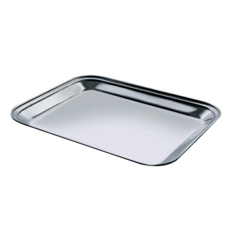 Tava servire Salvinelli, 40 x 30 cm, inox, Argintiu 2021 shopu.ro