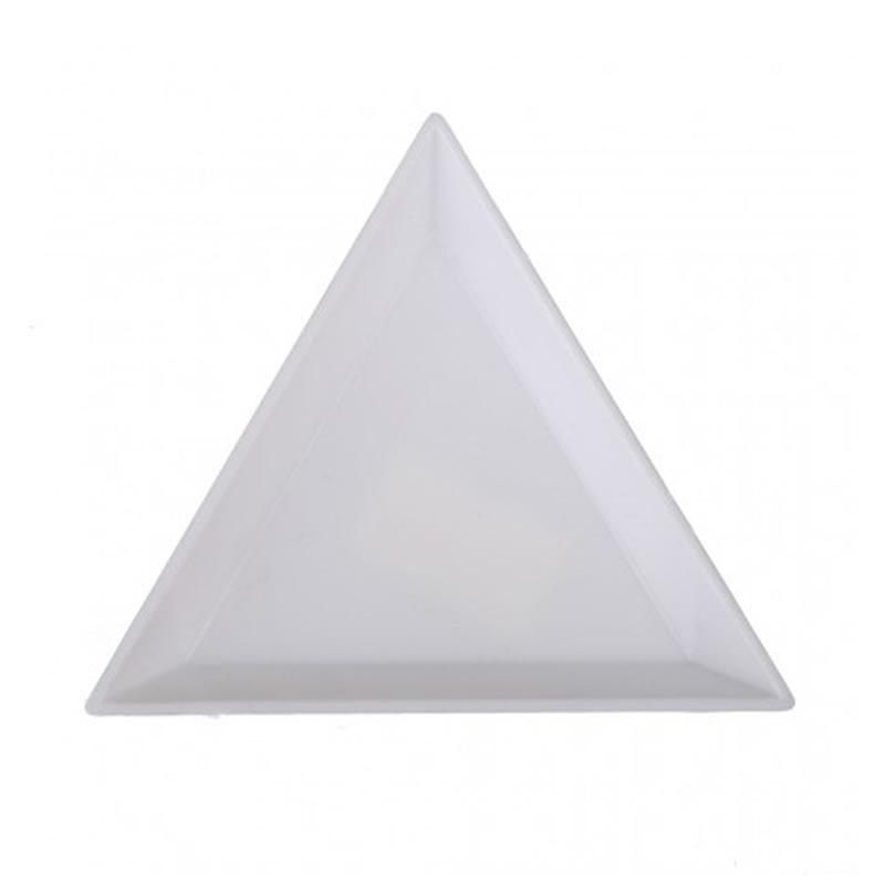 Tavita pentru preparare acryl, 10 bucati, forma triunghi 2021 shopu.ro